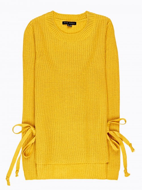 RIB-KNIT JUMPER WITH SIDE LACING