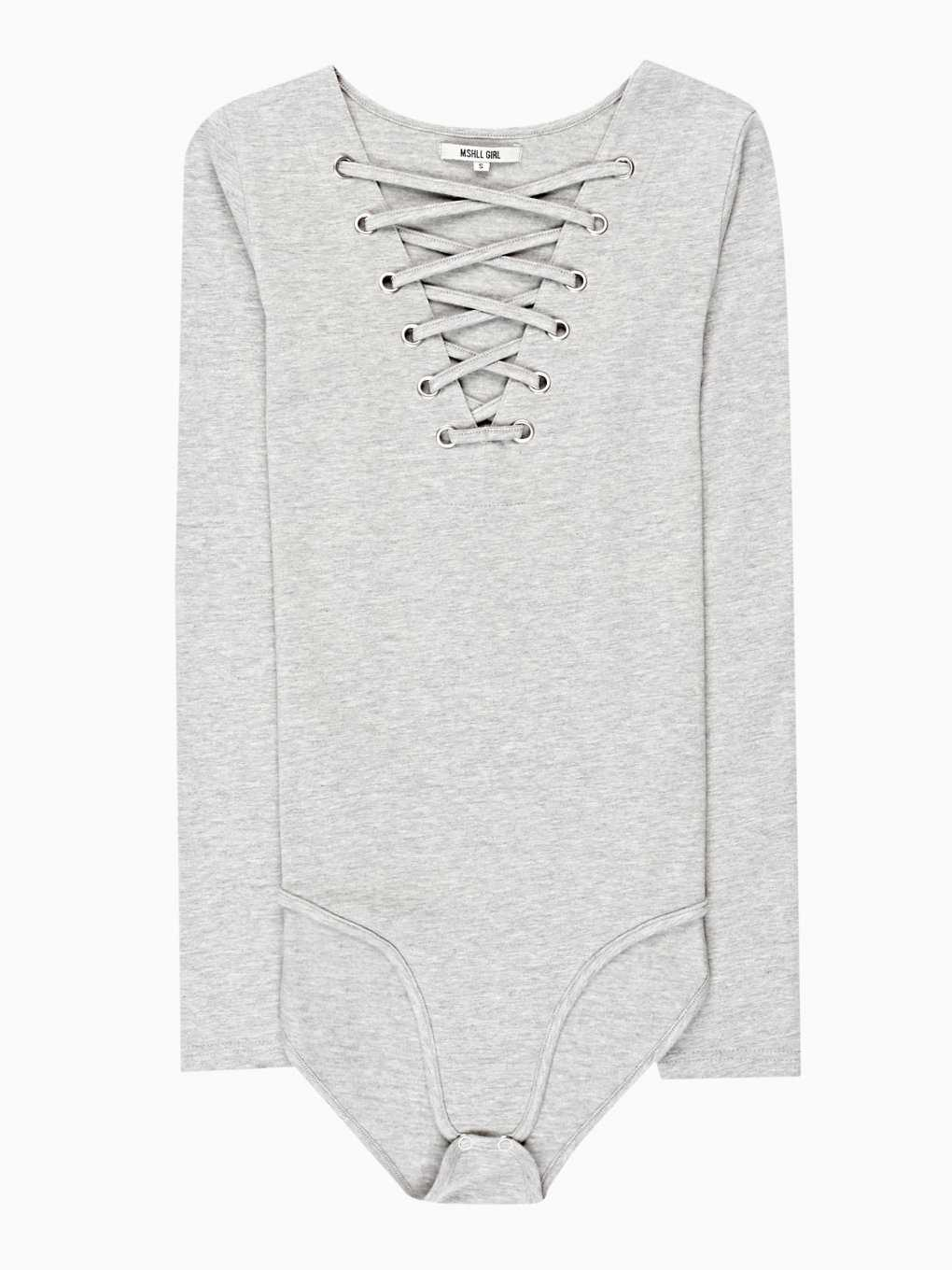 LACE-UP SLIM FIT BODYSUIT