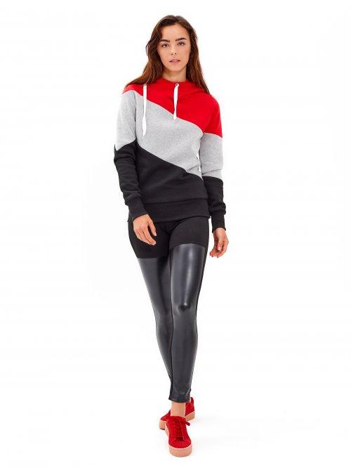 Kombinované kalhoty slim z imitace kůže 61b98b59d0