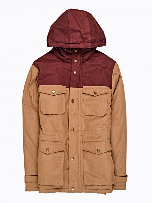 COLOUR BLOCK PADDED PARKA