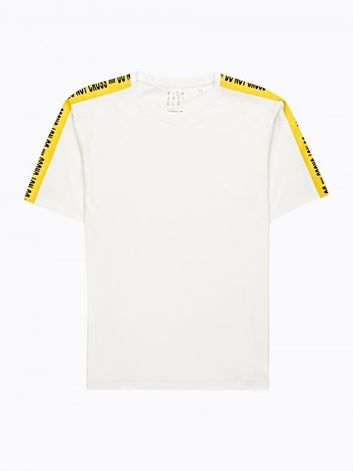 OVERSIZED T-SHIRT WITH SLEEVE TAPES