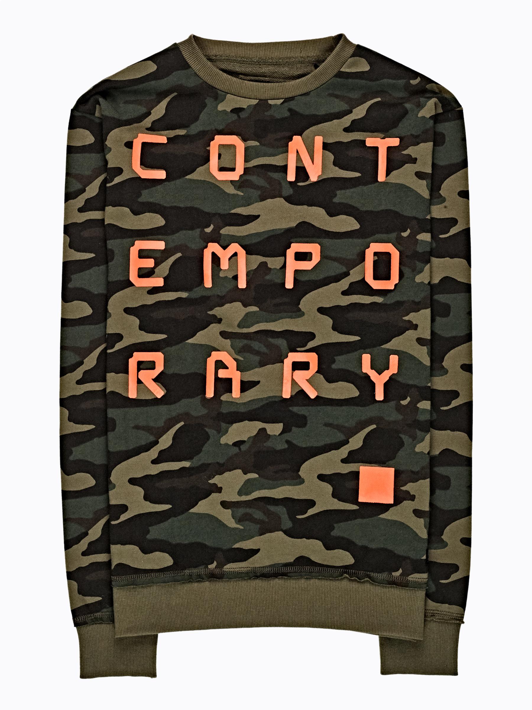 GATE Maskáčová bunda s nápisom