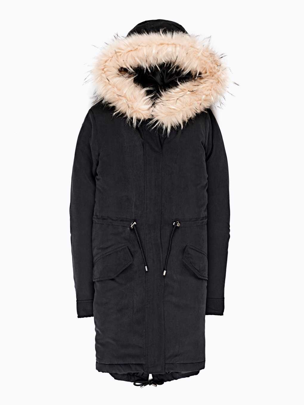 Reversible parka with faux fur | GATE