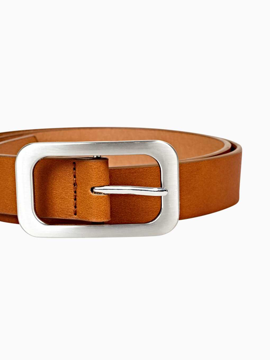 Belt with silver buckle