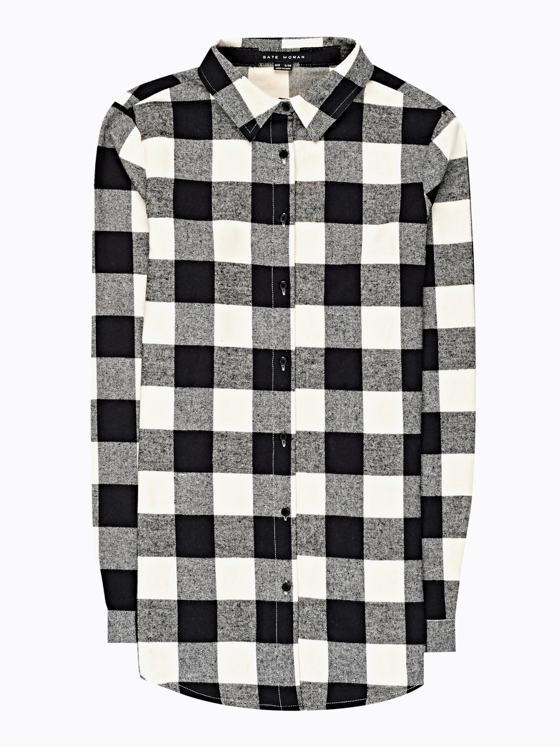 GATE Dlouhá kostkovaná košile
