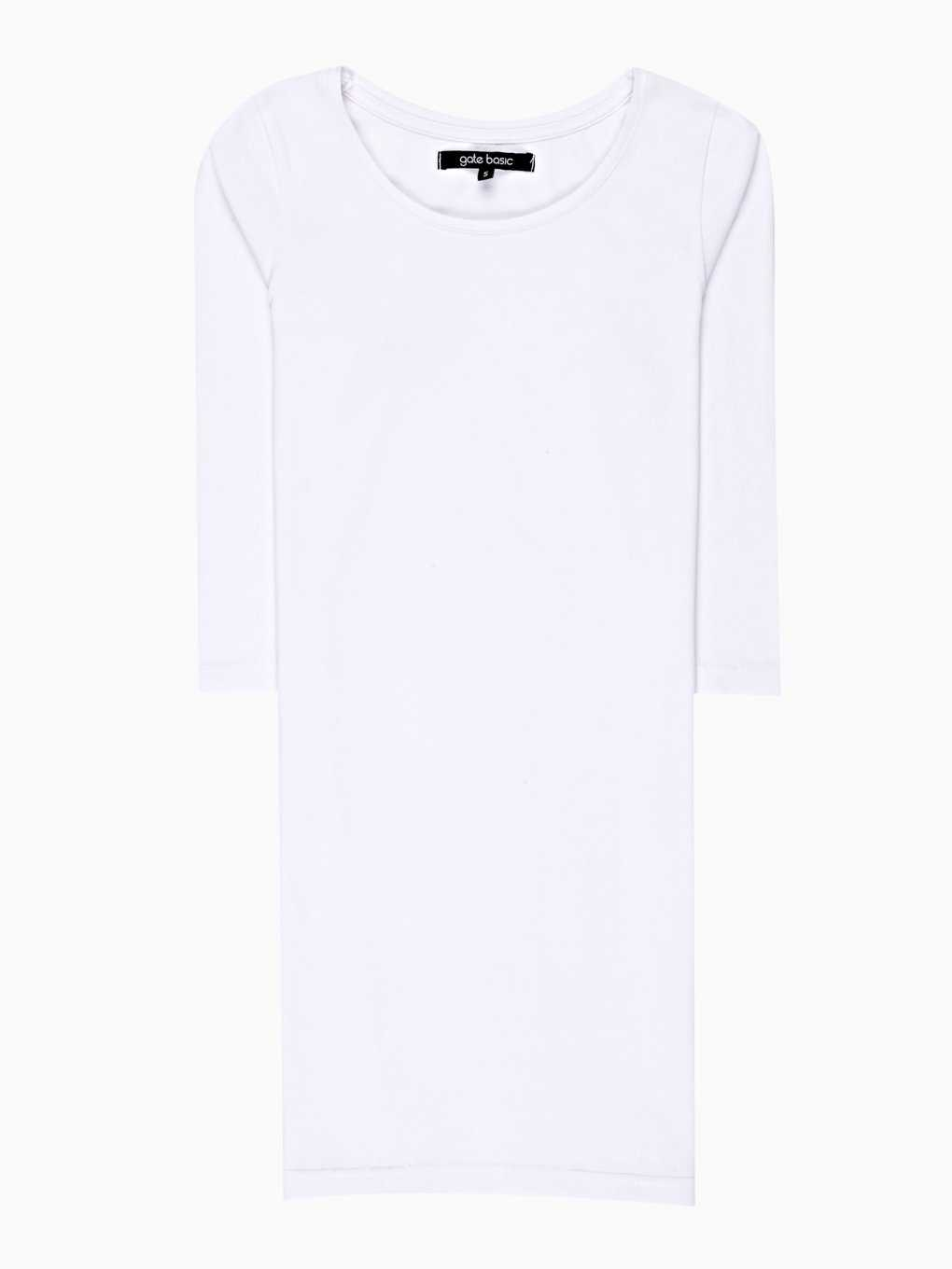 LONGLINE BASIC STRETCH T-SHIRT