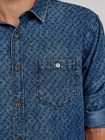 PAISLEY PRINT DENIM SHIRT