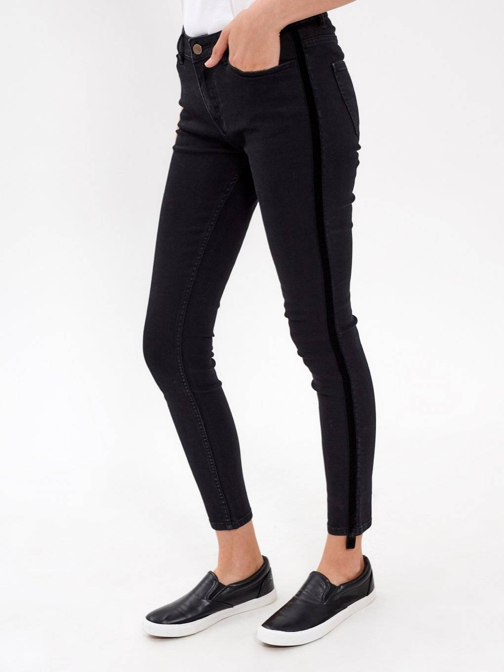 SKINNY JEANS WITH SIDE TAPE