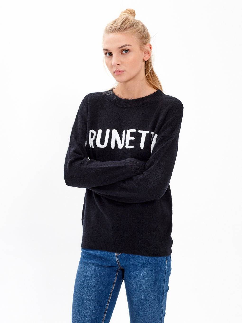JUMPER WITH SLOGAN