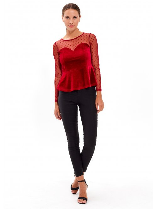 COMBINED PEPLUM TOP