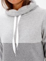 3-TONE LONGLINE TURTLENECK SWEATSHIRT