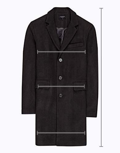 Kabát pea s vysokým žebrovaným límcem  6ae55260e8e
