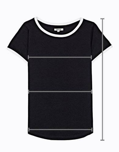 Asymmetrical t-shirt with print