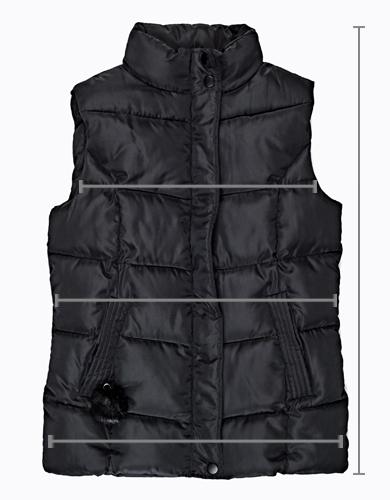 Prešívaná vatovaná vesta s brmbolcami  b9ec7352b4a