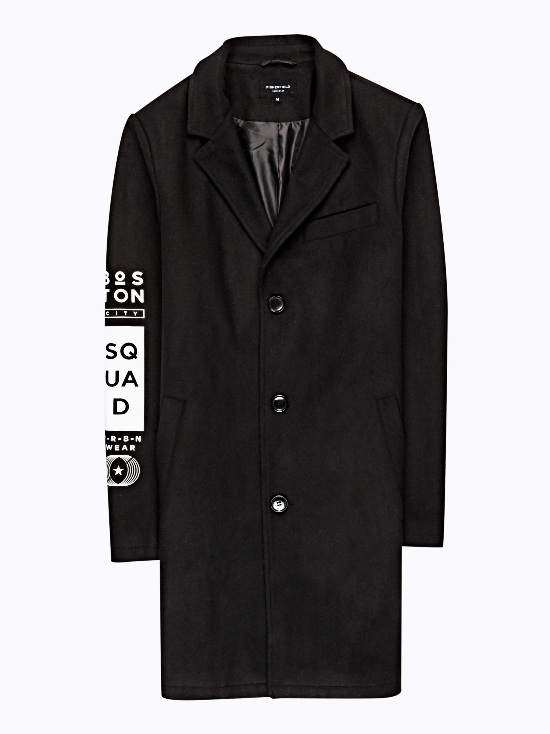 GATE Dlhý kabát s potlačou