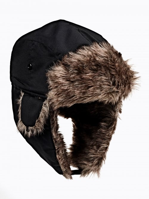 FAUX FUR LINED CAP