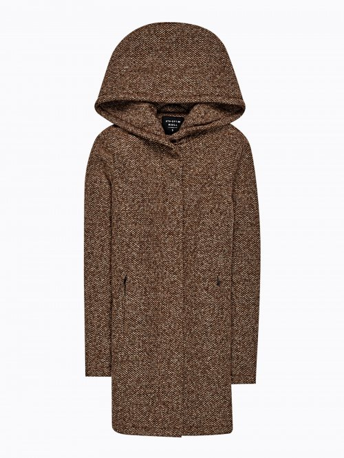 MARLED COAT WITH HOOD