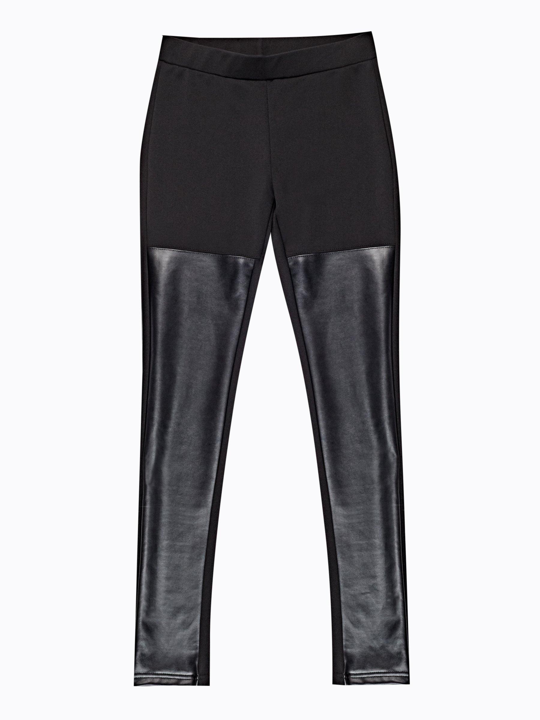 3dfb1109a20 Kombinované kalhoty slim z imitace kůže