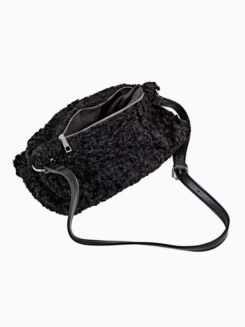 Fuzzy messenger bag
