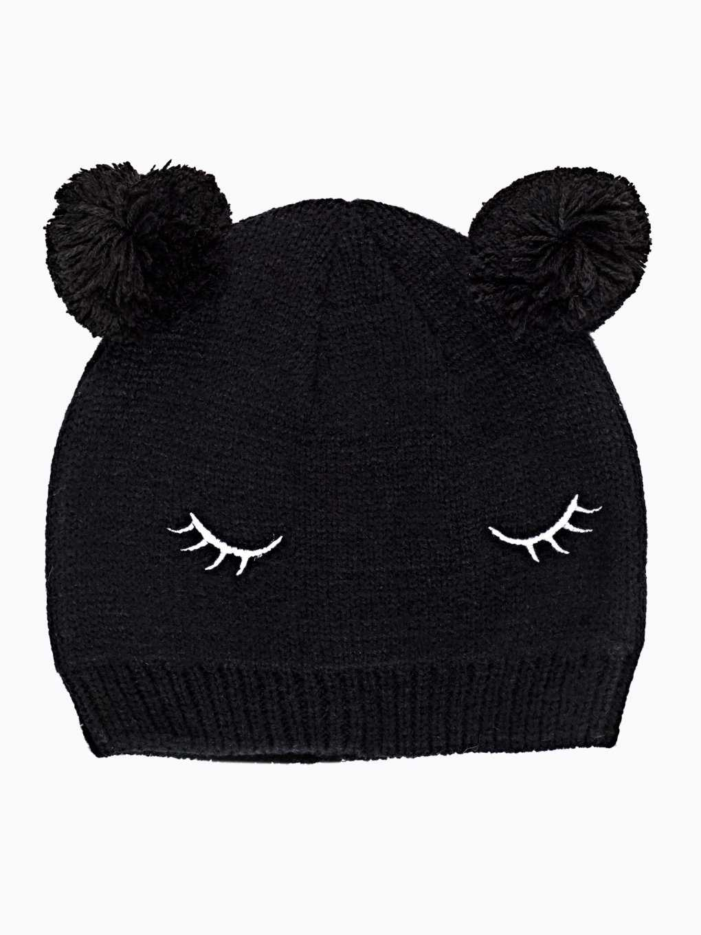 RIB-KNIT BEANIE WITH EARS