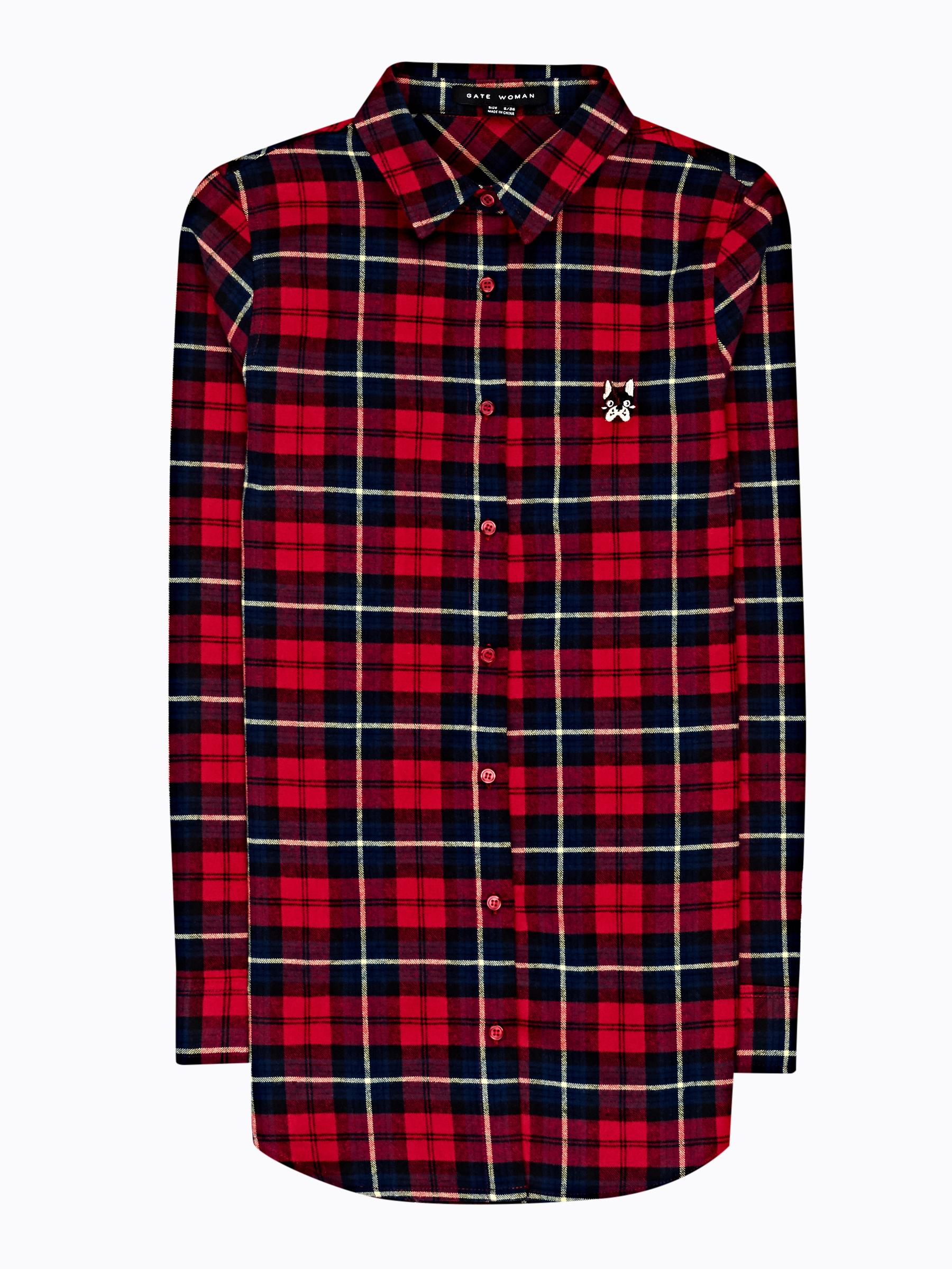 GATE Károvaná košeľa s malou výšivkou