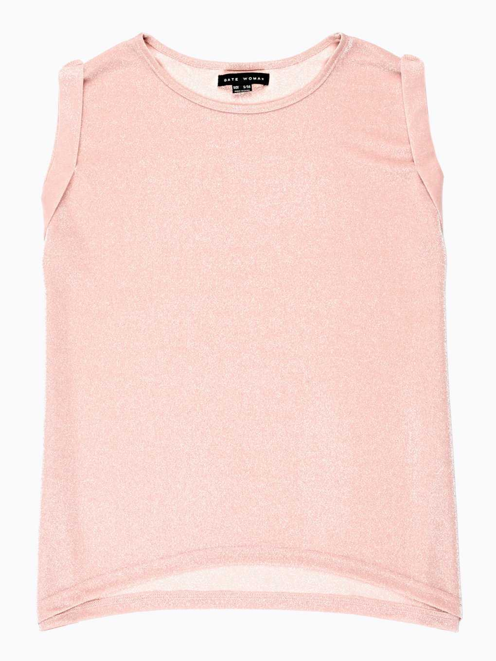 SLEEVELESS TOP WITH METALLIC FIBRE