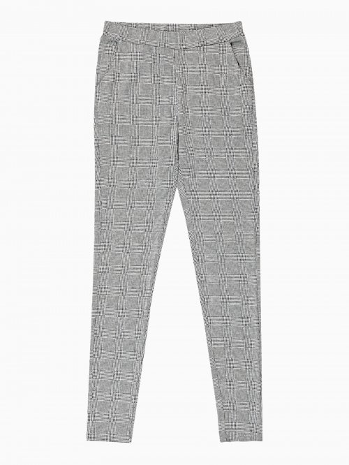 PLAID KNITTED TROUSERS