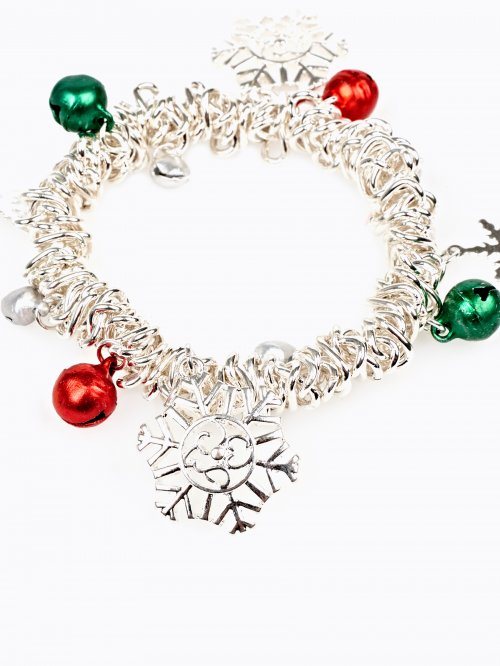 BRACELET WITH CHRISTMAS PENDANTS