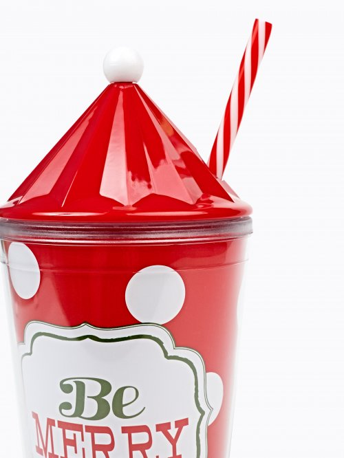 CHRISTMAS CUP WITH STRAW