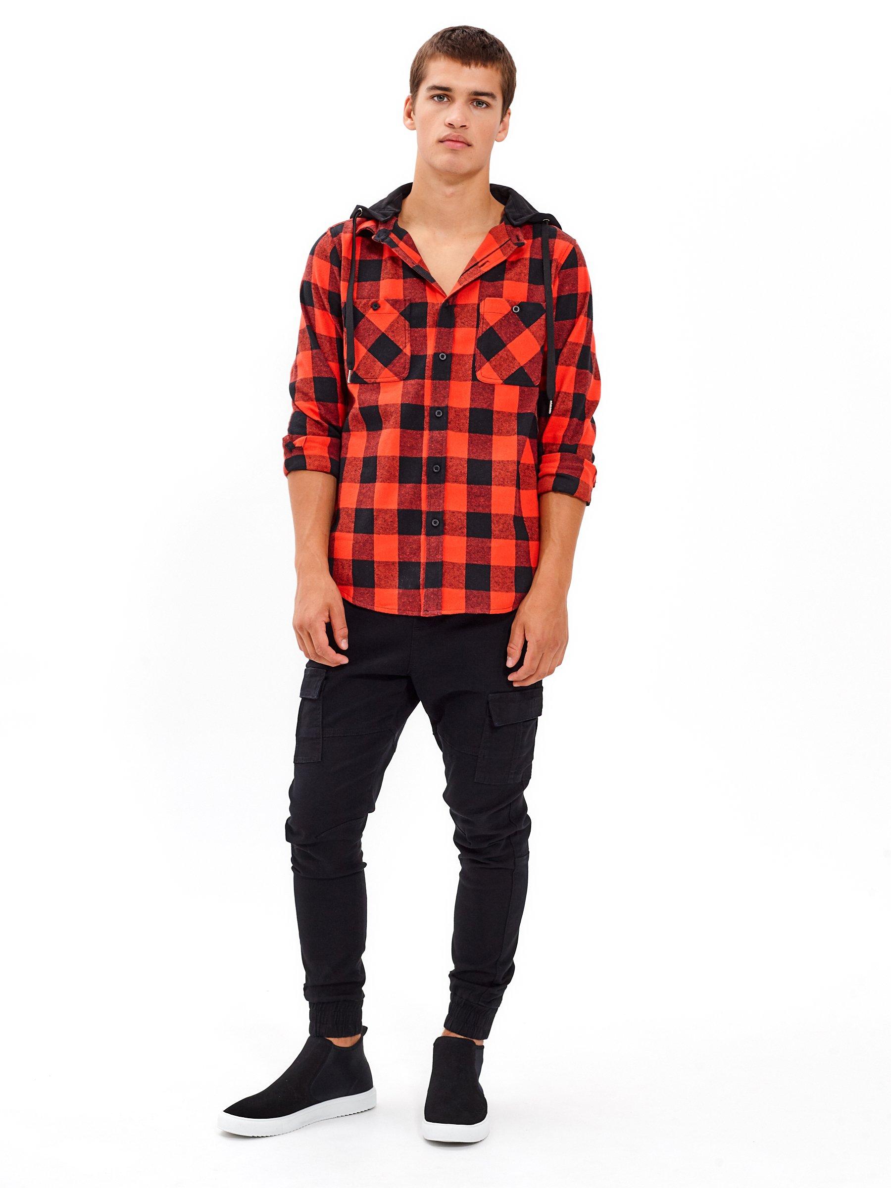 Kostkovaná košile s kapucí  d2e9ac10ff