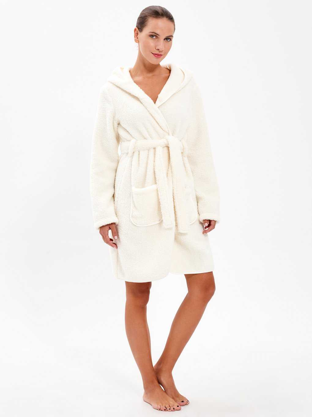 FLEECE DRESSING GOWN WITH BUNNY EARS