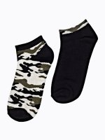 2-pack camo ankle socks