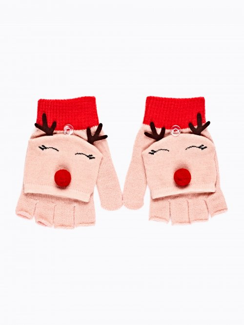 FINGERLESS REINDEER GLOVES
