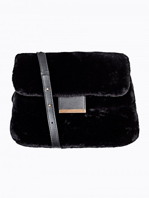 FAUX FUR MESSENGER BAG