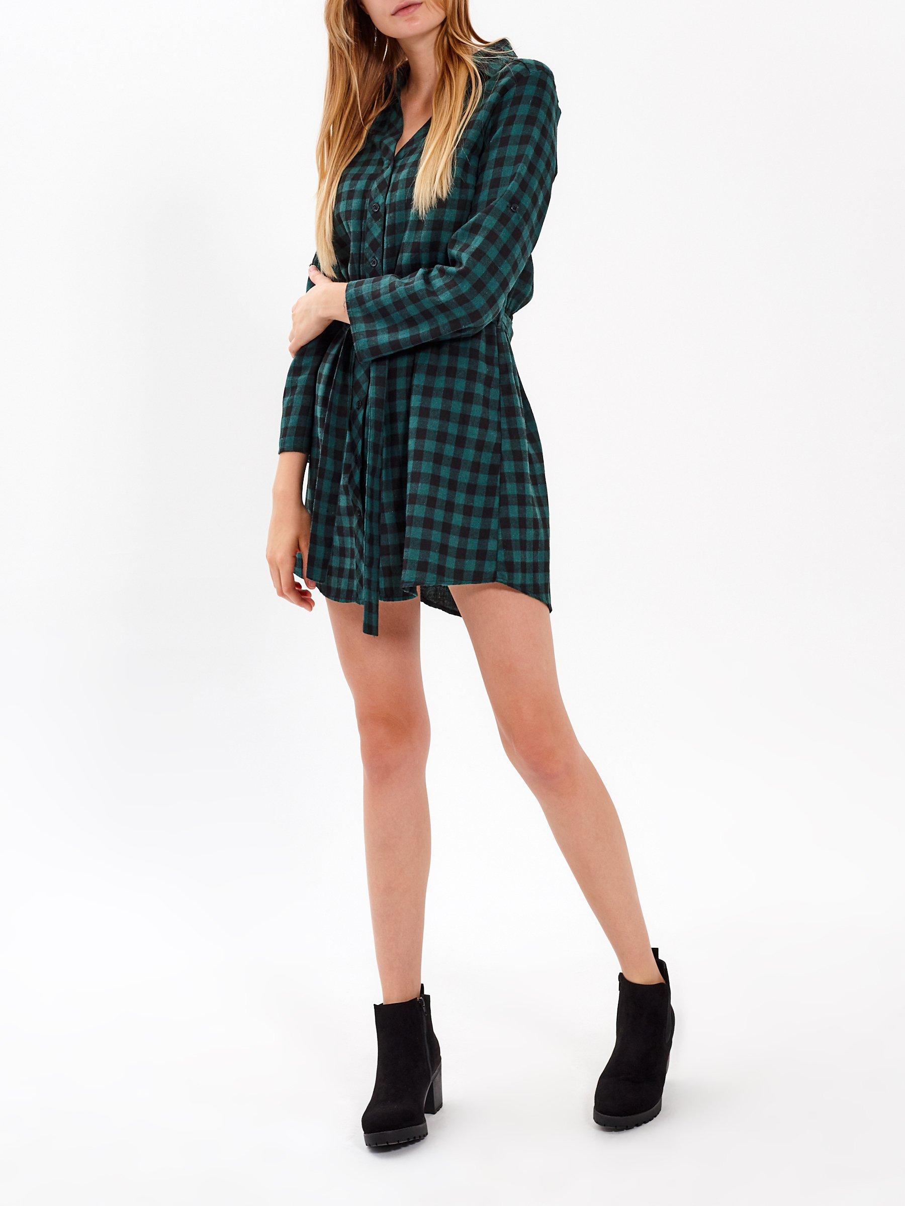 c730978addb7 Kostkované košilové šaty