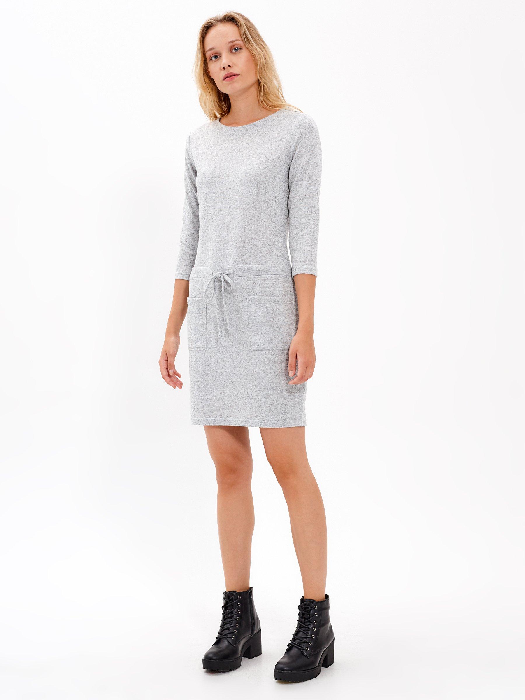 Úpletové šaty s kapsami  09e620f262