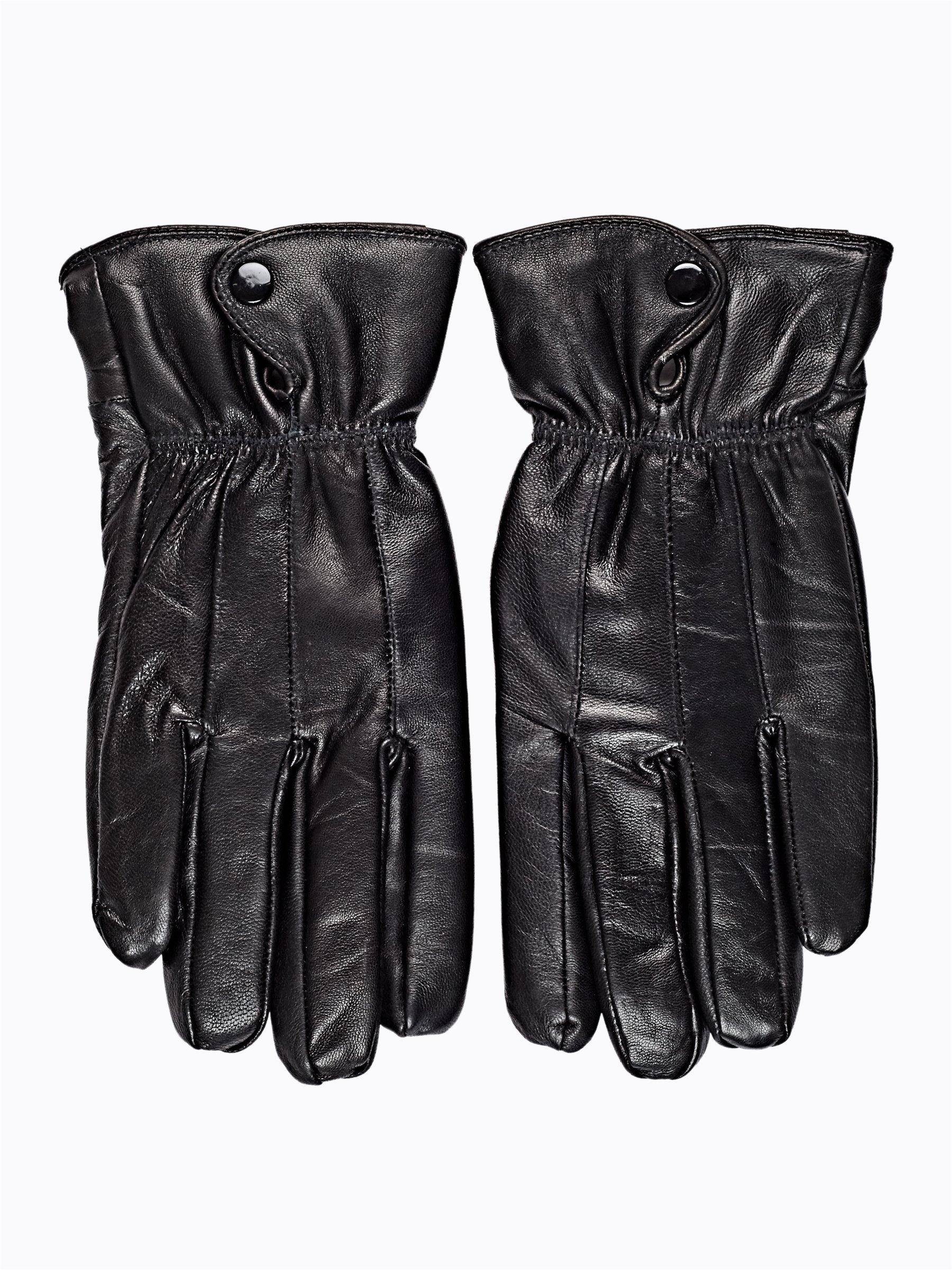 08c519ed4bf8 Kožené rukavice s plyšovou podšívkou