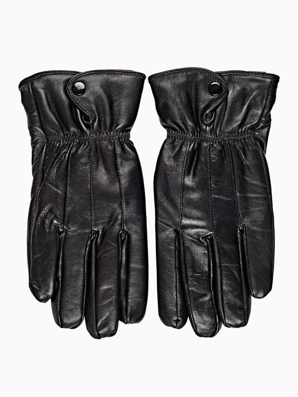 PILE LINED LEATHER GLOVES