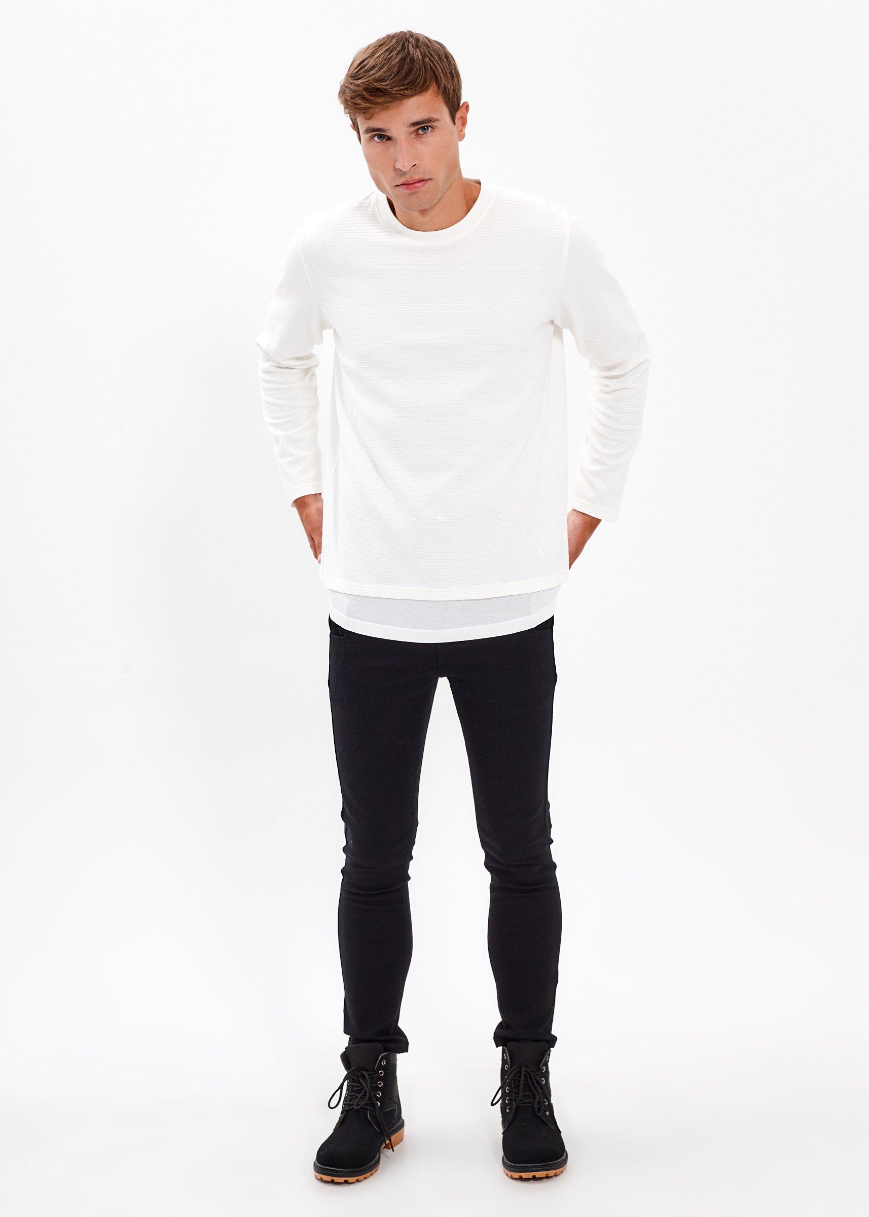 Strukturované tričko s vrstveným spodním lemem  443be021608