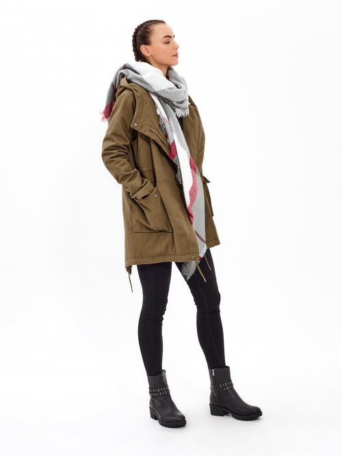 LIGHT PADDED OVERSIZED COTTON PARKA