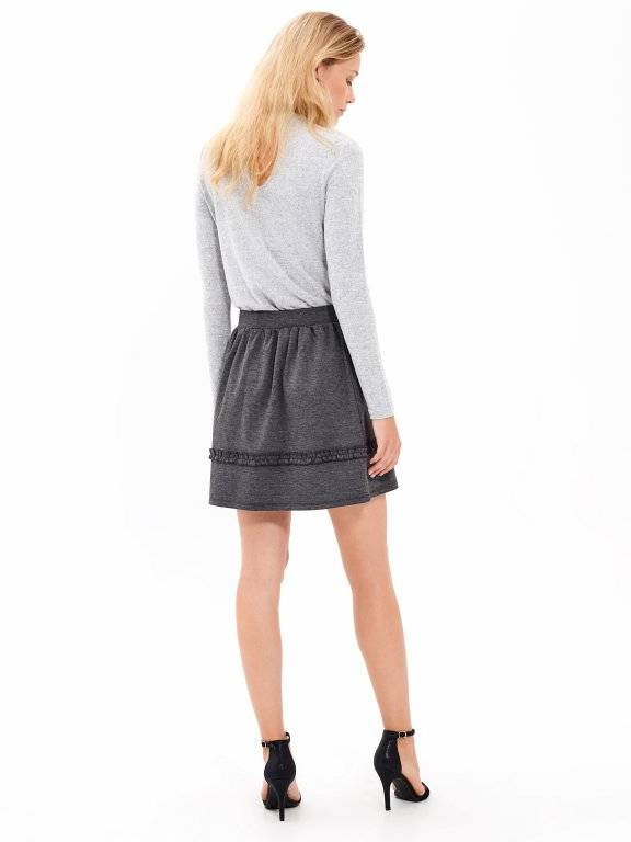 SKIRT WITH RUFFLE DETAIL