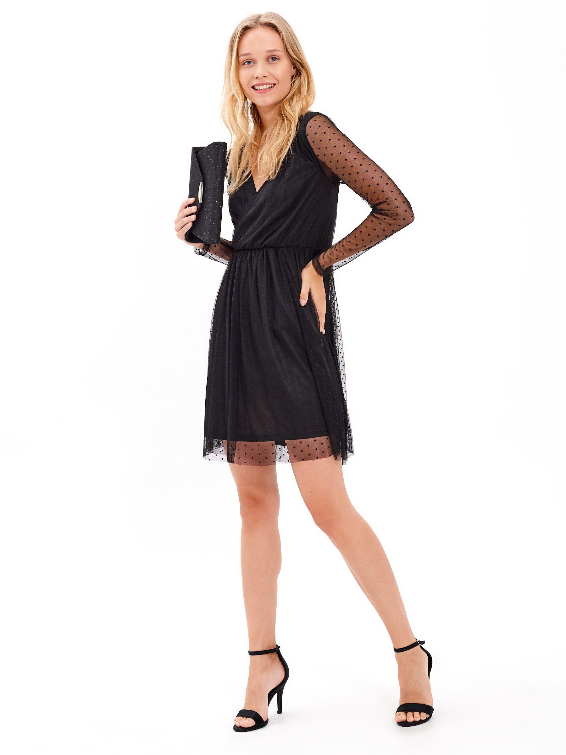 ff979415d09c Puntíkované tylové šaty