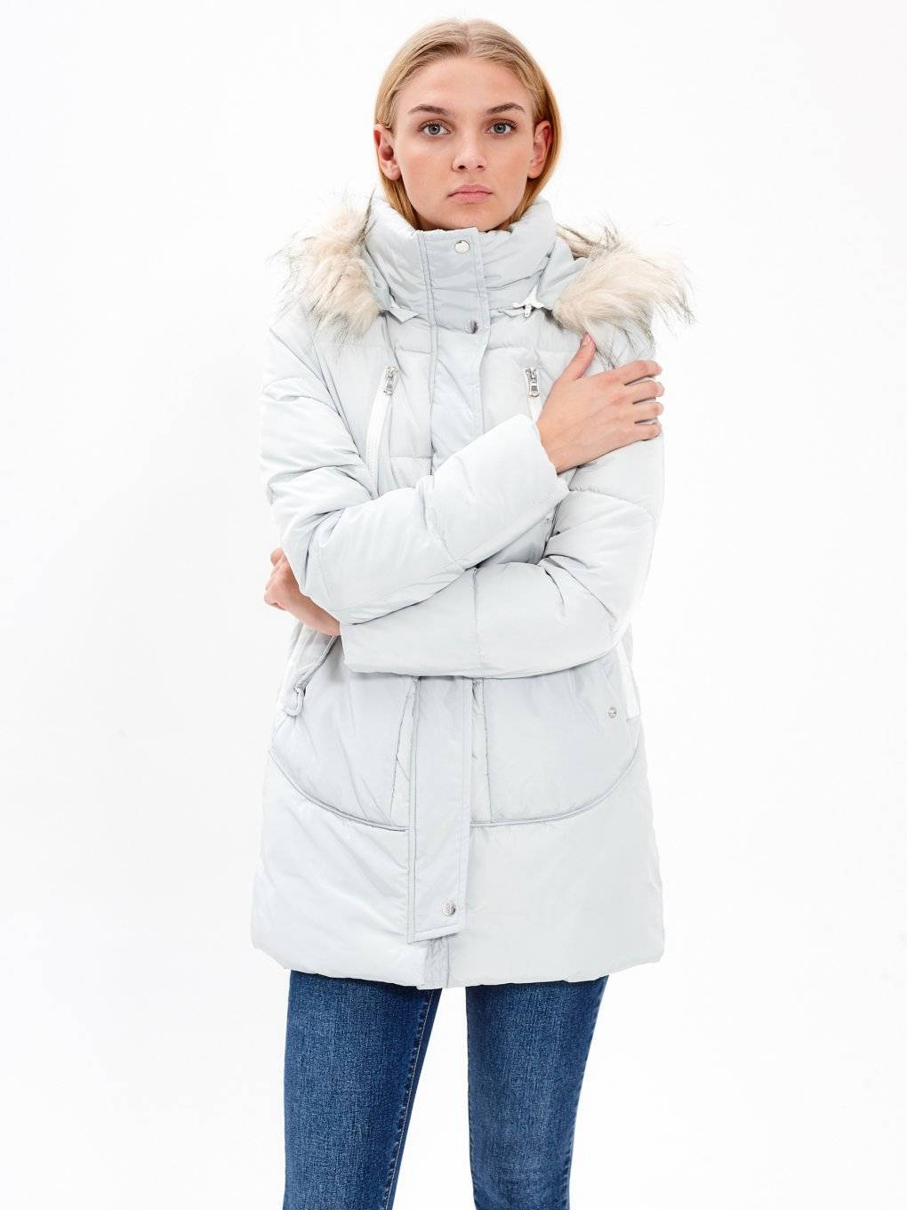 Oversized padded jacket with hood