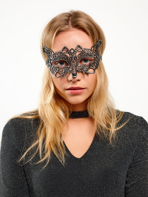 Metallic party mask