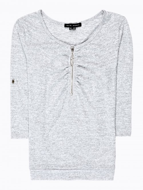 Jumper with zipper
