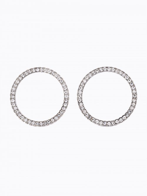 Circle earrings with stones