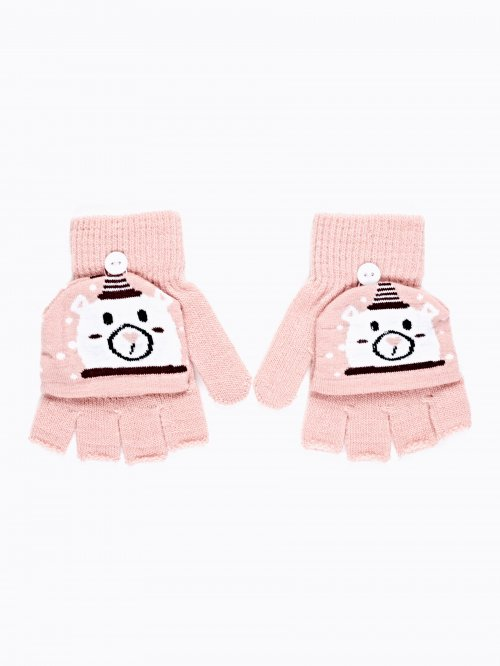 FINGERLESS POLAR BEAR GLOVES