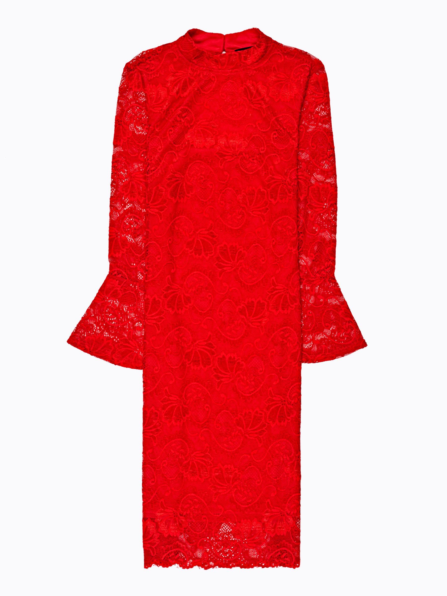 3bb79662b8e Krajkové šaty se zvonovými rukávy