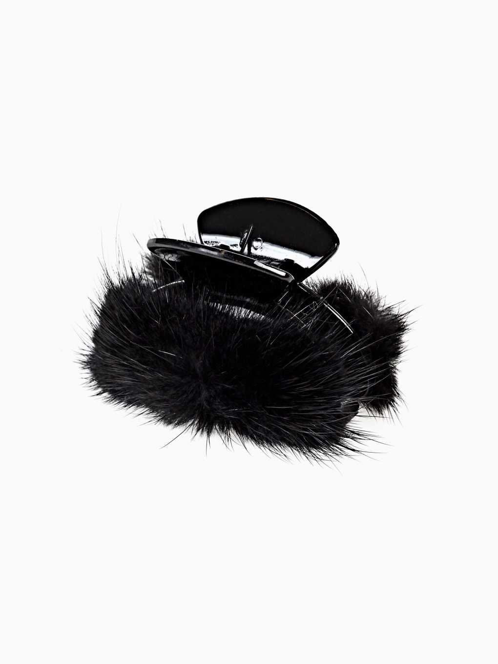 FAUX FUR HAIRCLIP