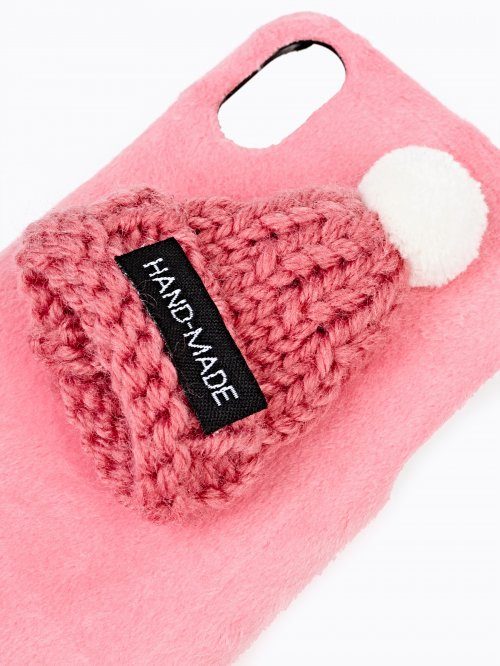 PHONE CASE WITH MINI BEANIE /I-PHONE 6,7,X/